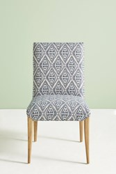 Anthropologie Ikat Tia Dining Chair Blue