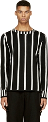 Comme Des Garcons Black And White Striped Sweater