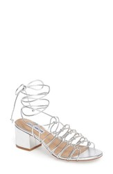 Steve Madden Women's Illie Knotted Lace Sandal Silver