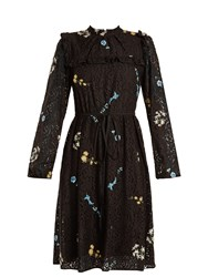 N 21 Floral Embroidered Lace Dress Black Multi