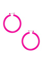 Luv Aj Rainbow Amalfi Hoop Earrings Pink