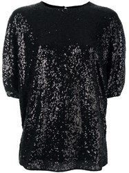 Victoria Beckham Sequin Embellished Blouse Black