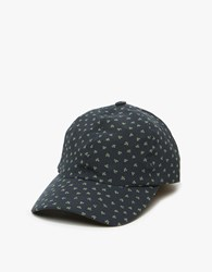 A.P.C. Sun Cap Weave Ditsy Floral In Navy
