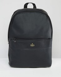 Asos Backpack In Black With Gold Emboss Black