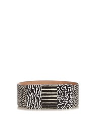 Max Mara Frisco Waist Belt Black White