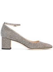 Manolo Blahnik Listony 50 Pumps Metallic