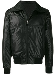 Just Cavalli Logo Bomber Jacket Black