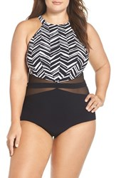 Gottex Plus Size Women's Profile By Marble One Piece Swimsuit