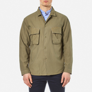 Garbstore Men's Jungles Embroidered Shirt Khaki Green