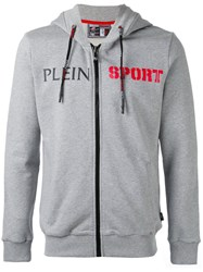 Plein Sport 'Garret' Hoodie Men Cotton L Grey