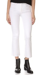 Paige Colette Crop Jeans With Raw Hem Optic White