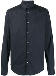 Emporio Armani Long Sleeve Shirt Blue