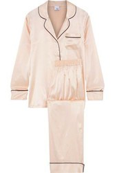 Iris And Ink Mairead Silk Blend Charmeuse Pajama Set Pastel Pink