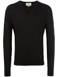 Gucci Lightweight V Neck Jumper Black