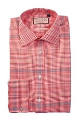 Thomas Pink Theodore Classic Fit Houndstooth Plaid Dress Shirt Multi