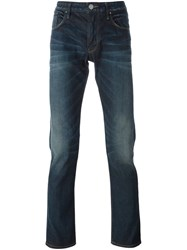 Armani Jeans Stonewash Effect Slim Fit Blue