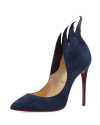 Christian Louboutin Victorina Flame Suede 100Mm Red Sole Pump Night