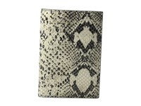 Lodis Kate Exotic Passport Cover Black Taupe Wallet