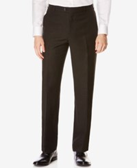 Perry Ellis Portfolio Classic Fit Flat Front Linen Blend Pants Black