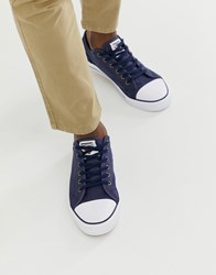 Dunlop Lace Up Plimsolls In Navy