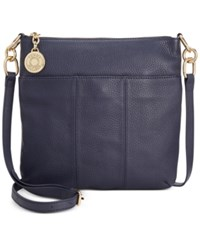 Tommy Hilfiger Th Signature Pebble Leather Crossbody Tommy Navy