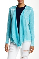 Cullen Back Pleat Linen Blend Cardigan Blue