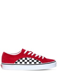 Vans Lampin Corduroy And Canvas Sneakers Red Black