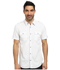 Dkny Short Sleeve Honeycomb Dobby Shirt Casual Wash White Men's Clothing