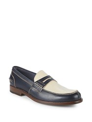Canali Leather Driver Shoes Dark Blue