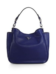 Prada Daino Large Hobo Bag Inchiostro Blue