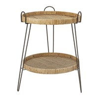 Bloomingville Rattan Two Tier Sidetable Natural