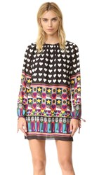 Anna Sui All You Need Is Love Dress Black Multi