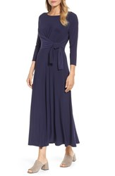 Chaus Women's Cahus Faux Wrap Midi Dress Evening Na