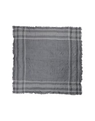 Paolo Pecora Square Scarves Grey