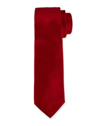 Valentino Solid Satin Tie Red