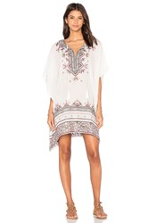 Star Mela Asta Embroidered Kaftan White