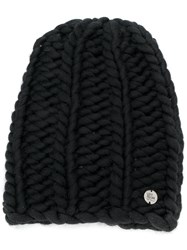 Lost And Found Ria Dunn Knitted Beanie Black