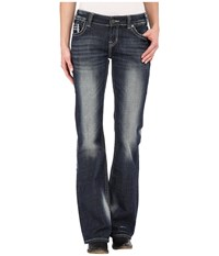 Rock And Roll Cowgirl Riding Bootcut In Dark Vintage W7 5628 Dark Vintage Women's Jeans Navy