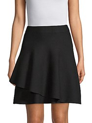 Saks Fifth Avenue Double Layer Ruffle Skirt Black