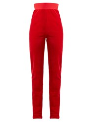 Vetements X Juicy Couture Velour Track Pants Red