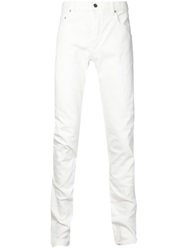 Christian Dada Skinny Ripped Jeans White