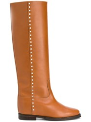 Via Roma 15 Studded Riding Boots Brown