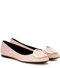 Roger Vivier Patent Leather Ballerinas Pink