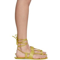 Tibi Yellow Reid Sandals