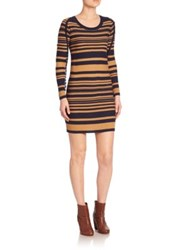 Sonia Rykiel Long Sleeve Striped Dress Biscuit