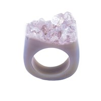 Tiana Jewel Wanderlust Spirit Quartz Ring Pink Purple