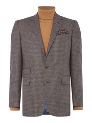 Chester Barrie Gingham Flannel Jacket Blue