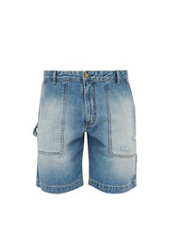 Acne Studios Loose Leg Denim Utility Shorts Indigo