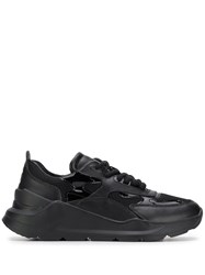 D.A.T.E. Panelled Lace Up Sneakers Black