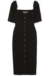 Veronica Beard Trace Button Detailed Cady Dress Black